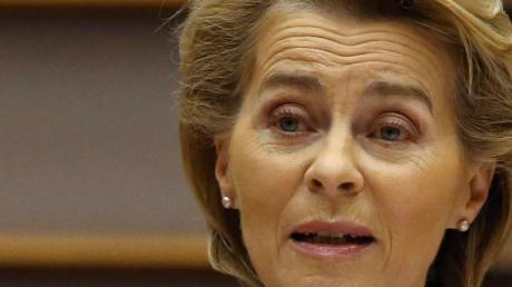 Ursula von der Leyen gab sich vor dem EU-Parlament selbstkritisch.