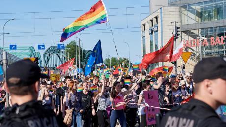Seit Jahren kämpfen Schwule und Lesben in Polen für Gleichberechtigung wie hier in Danzig.