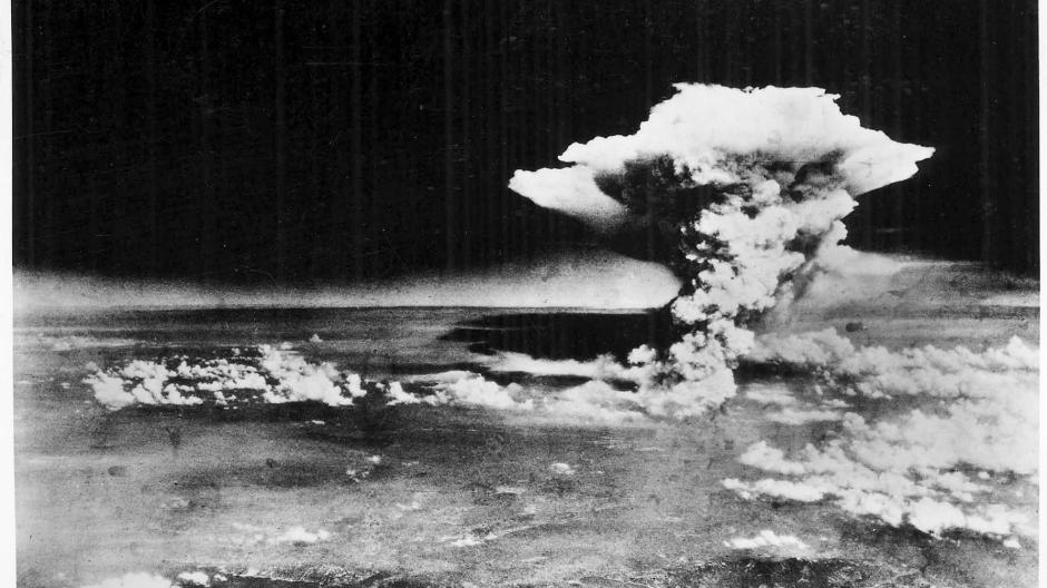 Die Atombomben-Explosion in Hiroshima, fotografiert vom US-Militär am 06. August 1945.