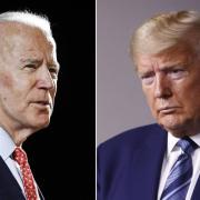 Joe Biden (links) und Donald Trump liefern sich ein TV-Duell. In diesem Artikel gibt es die Infos zur Übertragung im TV und Stream.