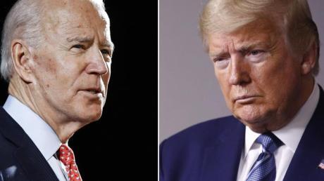 Joe Biden (l) will im November Amtsinhaber Donald Trump herausfordern.