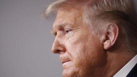 US-Präsident Donald Trump während einer Pressekonferenz im Weißen Haus.
