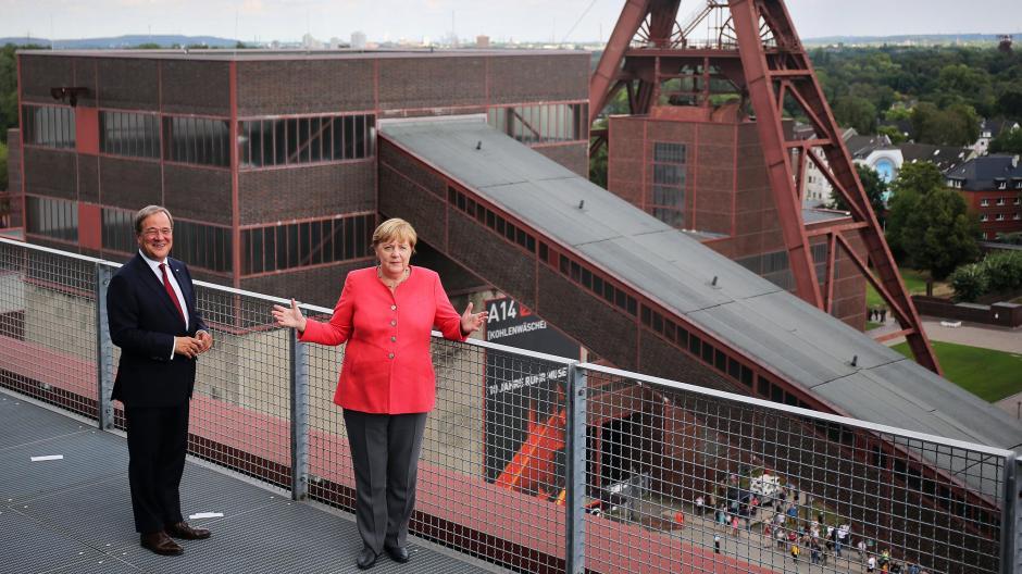Nordrhein Westfalen Zeche Statt Schloss Kanzlerin Merkel Zu Besuch In Nrw Augsburger Allgemeine