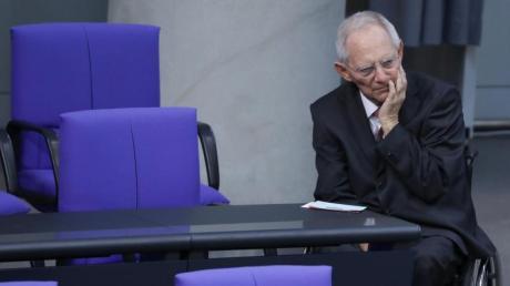 Er stand als Finanzminister jahrelang für die Politik der schwarzen Null: Wolfgang Schäuble.