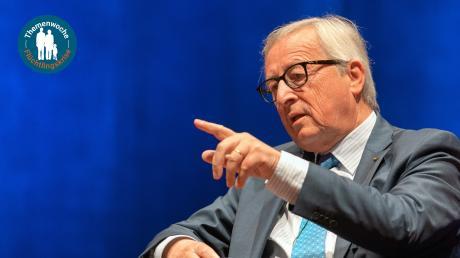 """Der frühere EU-Kommissionspräsident Jean-Claude Juncker wünscht sich, dass Europa im Umgang mit Flüchtlingen mehr Herz zeigt: """"Europa muss eine Zuflucht für die bleiben, die verfolgt sind."""""""