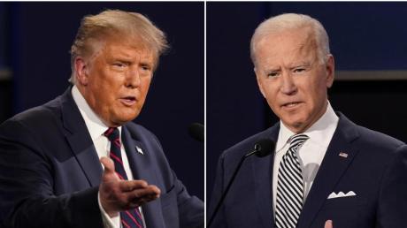 US-Präsident Donald Trump (l) und Herausforderer Joe Biden liefern sich ein enges Rennen ums Weiße Haus.