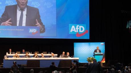Jörg Meuthen beim Bundesparteitag der AfD 2019 in Braunschweig.