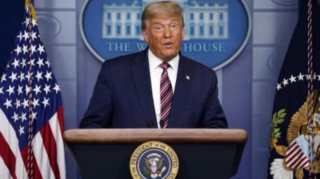 Donald Trump, Präsident der USA, spricht im Weißen Haus. Den Ausgang der Wahl will er nicht anerkennen.