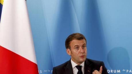 Hat mit seinem «Hirntod»-Attest für viel Wirbel in der Nato gesorgt:Frankreichs Präsident Emmanuel Macron.