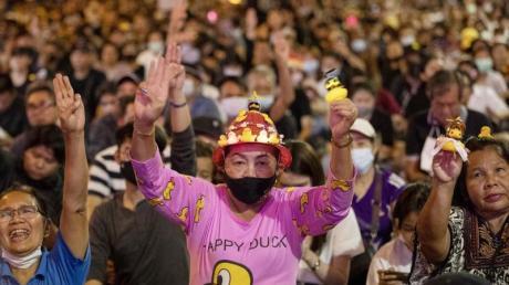 Die Demokratiebewegung in Thailand ist jung, bunt und kreativ - und hat seit kurzem einen äußerst niedlichen neuen Helden: eine gelbe Gummiente.