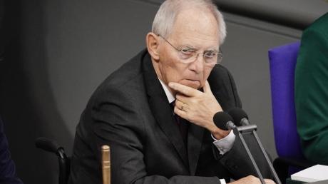 Bundestagspräsident Wolfgang Schäuble (CDU) in seiner Rolle als Bundestagspräsident.
