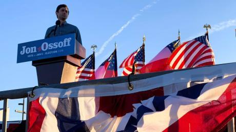Jon Ossoff von den Demokraten kürzlich bei einer Veranstaltung in Macon, Georgia.