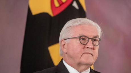 Bundespräsident Frank-Walter Steinmeier spricht bei einem Statement zu den Ereignissen um den Sturm auf das Kapitol in Washington in den USA.