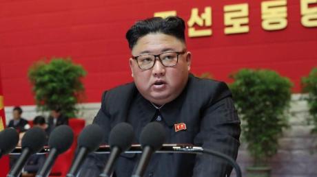 Nordkoreas Machthaber Kim Jong Un droht auf dem Kongress der Partei der Arbeit den USA.