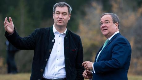 Parteichefs Markus Söder und Armin Laschet: Wer wird Kanzelerkandidat?