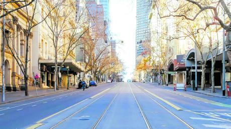 Vorbild Australien? Noch im August galt in Melbourne eine strenge Ausgangssperre. Im November durften Geschäfte und Gastronomie wieder öffnen.