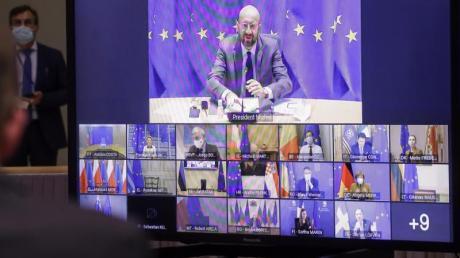 Die EU-Staats- und Regierungschef wollen sich bei ihrem Videogipfel zum Vorgehen gegen neue Varianten des neuartigen Coronavirus abstimmen.