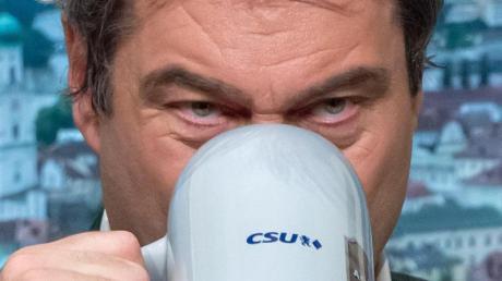 Bayerns Ministerpräsident Markus Söder (CSU) beim Politischen Aschermittwoch der Partei.