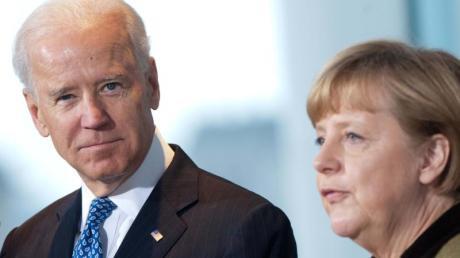 Kanzlerin Angela Merkel trifft heute bei zwei diplomatischen Treffen auf den neu gewählten US-Präsidenten Joe Biden.