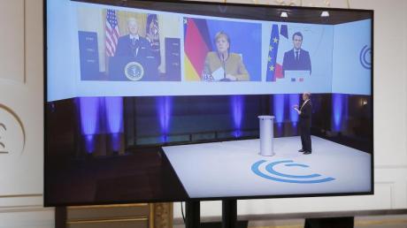 Digitale Münchner Sicherheitskonferenz: Auch US-Präsident Joe Biden war zugeschaltet.