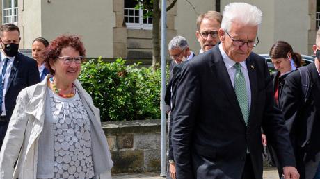 Gerlinde und Winfried Kretschmann – die Frau des baden-württembergischen Ministerpräsidenten hat eine Krebsoperation hinter sich.