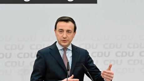 Mit Blick auf die sogenannte Maskenaffäre räumt Generalsekretär Ziemiak ein, diese habe die CDU erschüttert.
