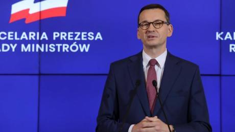 Polens Ministerpräsident Mateusz Morawiecki. Die Regierung in Warschau klagt vor dem Europäischen Gerichtshof gegen die neue Rechtsstaatsklausel im EU-Haushalt.