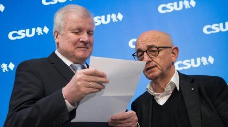 Horst Seehofer (l) und Alfred Sauter.