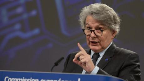 «Wir werden sicherstellen, dass alles in Europa bleibt, bis die Firma ihre Zusagen einlöst»: Thierry Breton.
