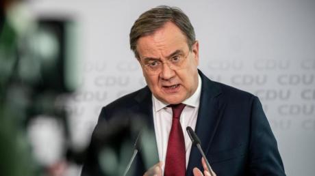 Armin Laschet, CDU-Bundesvorsitzender und Ministerpräsident von Nordrhein-Westfalen, spricht bei einer Pressekonferenz nach der Sitzung des CDU-Präsidiums im Konrad-Adenauer-Haus.