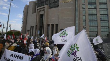 Anhänger der HDP bei einem Protest in Istanbul.