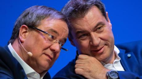 Einer von beiden wird der Kanzlerkandidat der Union:Armin Laschet oder Markus Söder.