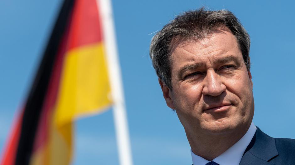 Möglicher Kanzlerkandidat: CSU-Chef Markus Söder hatte an dem denkwürdigen Sonntag in Berlin nichts zu verlieren.