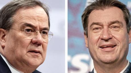 ArminLaschet und Markus Söder - beide möchten für die Union ins Rennen ums Kanzleramt gehen.