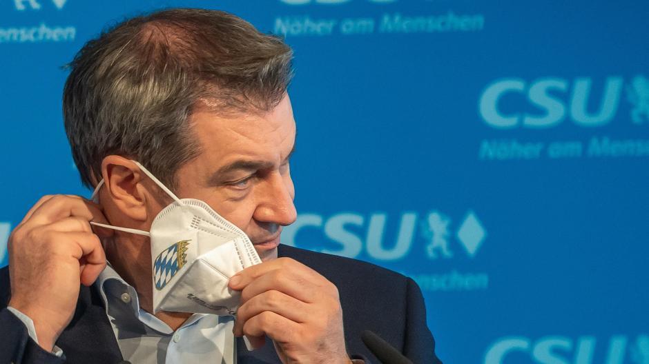 Seine Augen verraten ihn. Alles ist anders gekommen, als er es sich erdacht, erhofft, erträumt hat. Markus Söder am Dienstag, als er seine Niederlage im Rennen um die Kanzlerkandidatur einräumt.