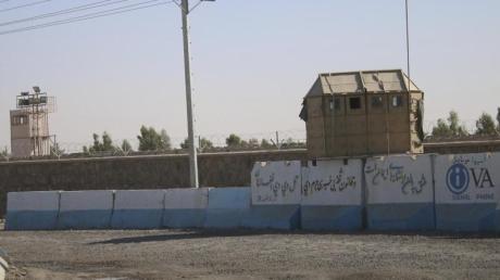 Die US-Militärbasis in der Provinz Kandahar, südlich von Kabul. Das US-Militär hat mit der Verschiffung von Ausrüstung und der Auflösung von Verträgen mit lokalen Dienstleistern begonnen.