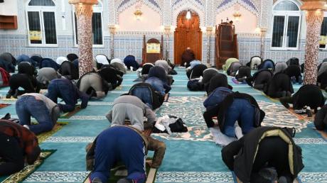 Nachtgebet in einer Moschee in Frankfurt am Main. 82 Prozent der Muslime in Deutschland halten sich laut der Studie für stark oder eher religiös.