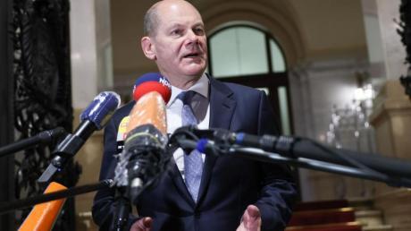 Olaf Scholz (SPD) äußert sich nach seinem Auftritt im Parlamentarischen Untersuchungsausschuss der Hamburgischen Bürgerschaft zum Cum-Ex-Skandal.