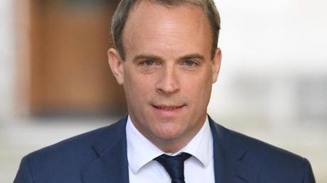 Dominic Raab, britischer Außenminister, kommt in der Londoner Downing Street 10 an.