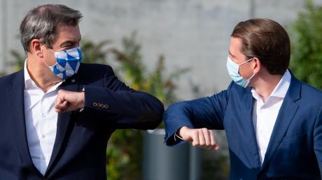 Grüß Gott, Herr Nachbar: So freundschaftlich wie auf diesem Bild geht es zwischen Markus Söder und Sebastian Kurz inzwischen nicht mehr zu.