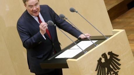 Armin Laschet, Ministerpräsident von Nordrhein-Westfalen und Kanzlerkandidat der Union, im Bundesrat.