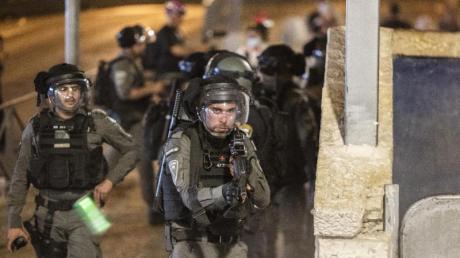 Auseinandersetzungen zwischen Sicherheitskräften und Demonstranten: Die Lage am Tempelberg ist eskaliert.