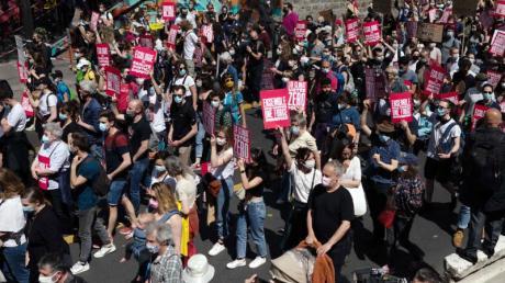 Protest in Paris gegen das aus Sicht der Demonstranten unzureichende Klimaschutzgesetz der französischen Regierung.