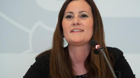 Janine Wissler, Co-Vorsitzende der Linken und Fraktionsvorsitzende der Partei im hessischen Landtag.