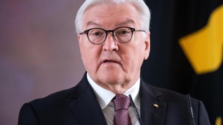 Bundespräsident Frank-Walter Steinmeier gibt im Schloss Bellevue bekannt, dass er für eine zweiten Amtszeit bereitsteht.