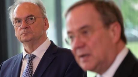 CDU-Chef Armin Laschet und Reiner Haseloff . Könnten sie die Architekten einer Deutschland-Koalition sein?