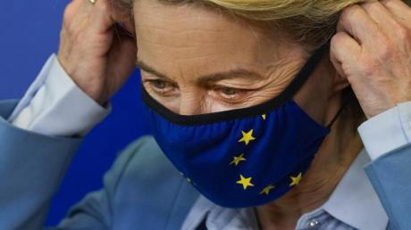 EU-Kommissionspräsidentin Ursula von der Leyen verkündete neue Zahlen zum Status der Impfkampagne in der Europäischen Union.