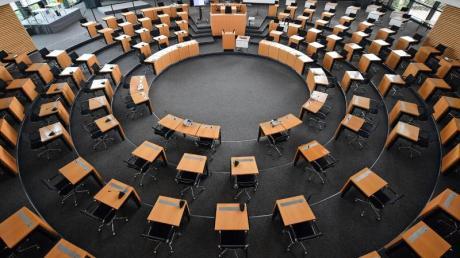 Der Plenarsaal des Thüringer Landtags.