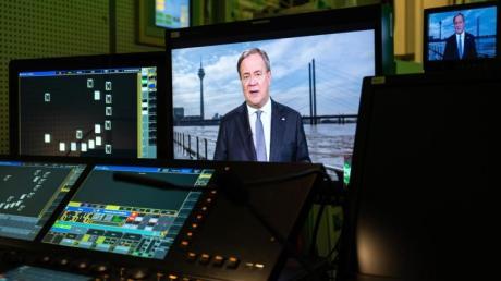 Armin Laschet bei der Fernsehansprache im WDR.