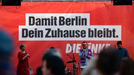 Die Linke macht Wahlkampf in Berlin.